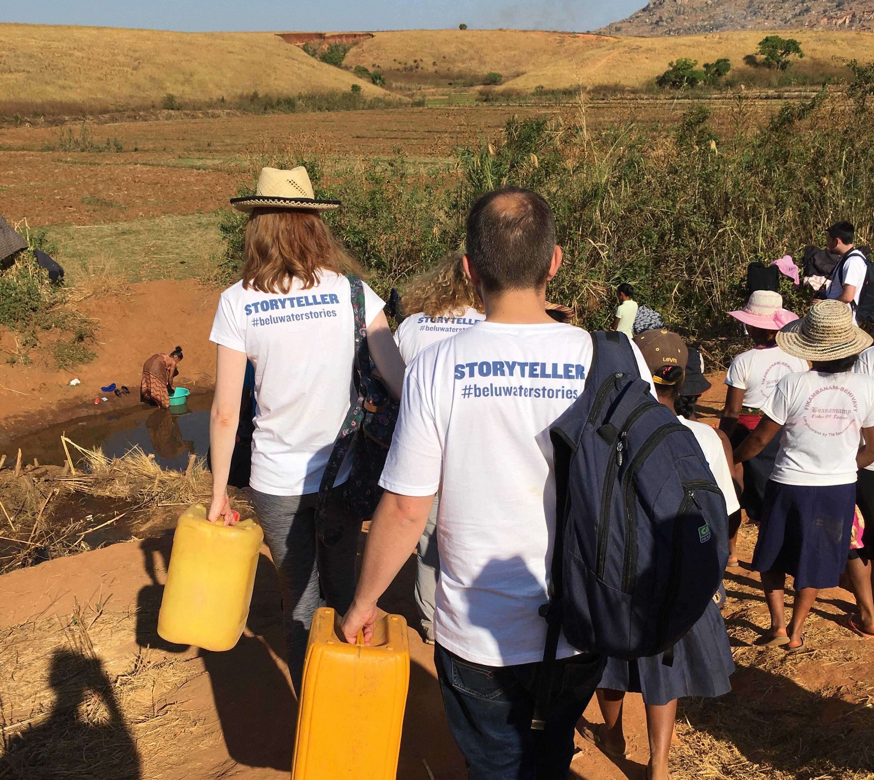 Belu team in Madagascar water