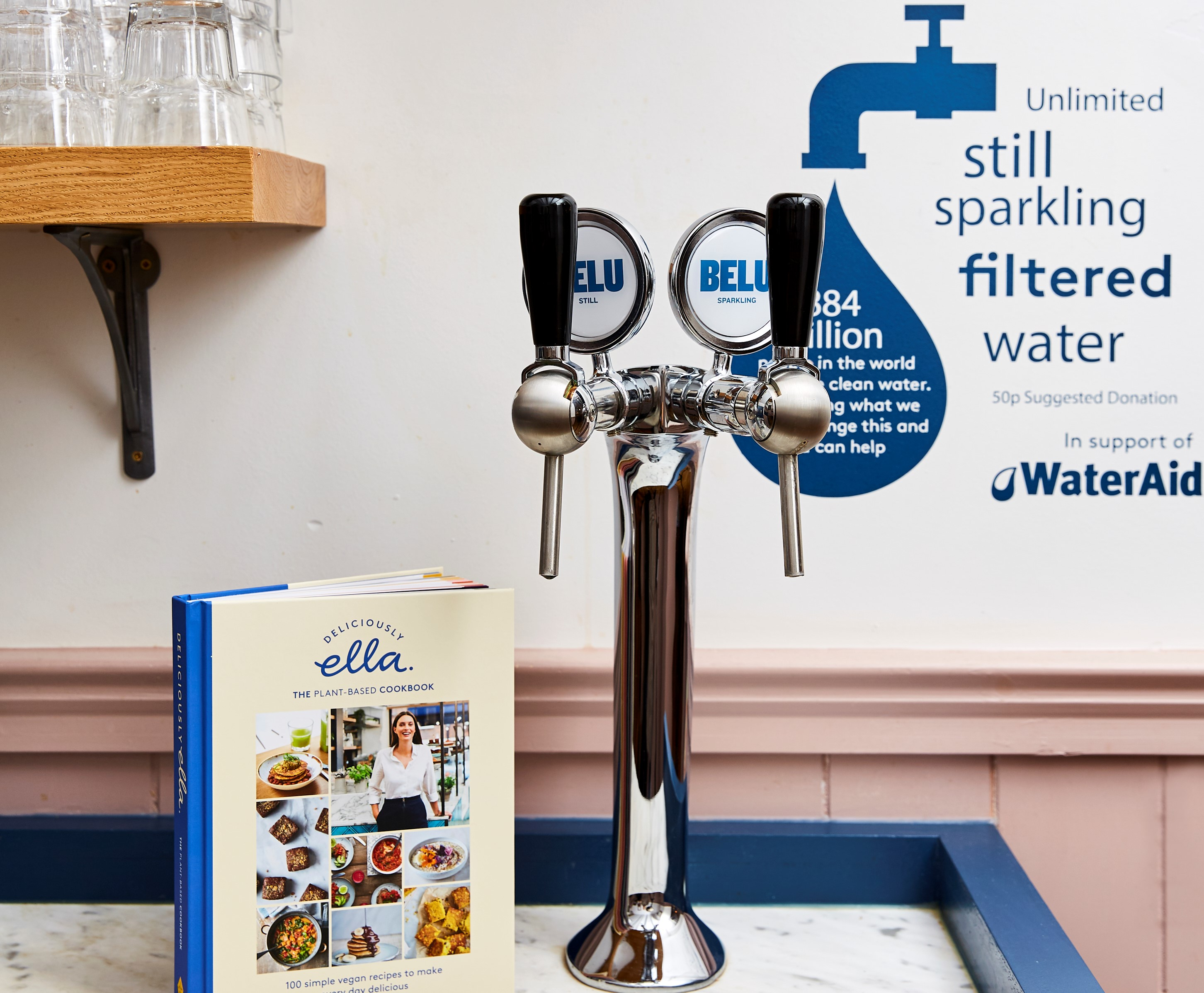 Belu filtration system at Deliciously Ella