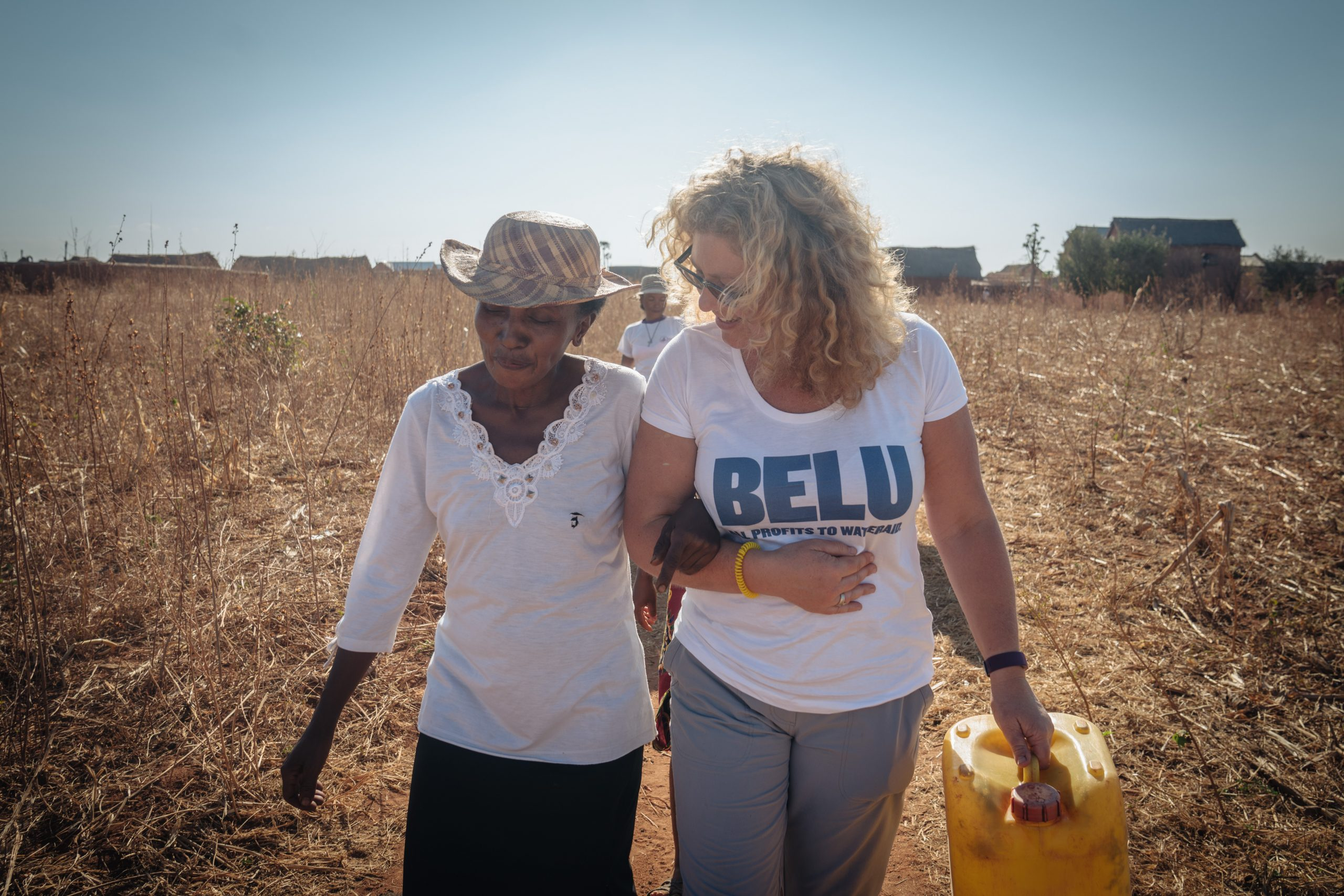 Karen, CEO of Belu, with Sabine in Madagascar