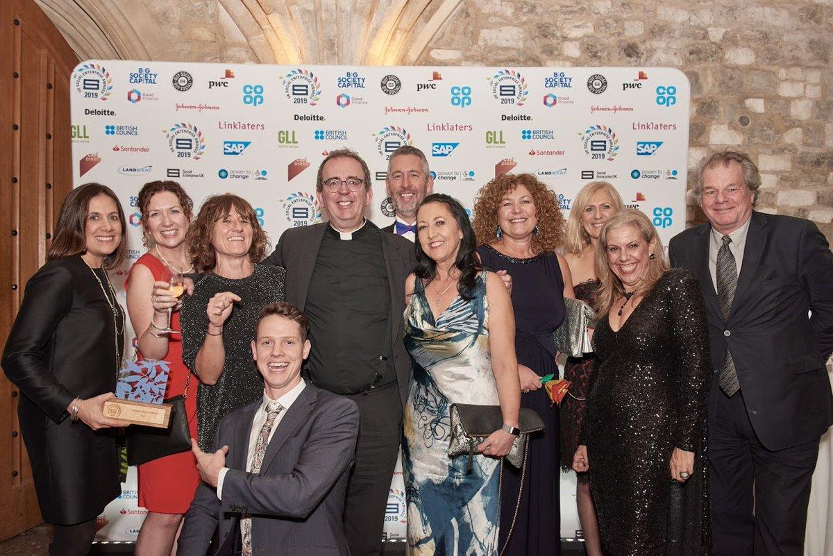 Belu winning the social enterprise UK award for International Impact