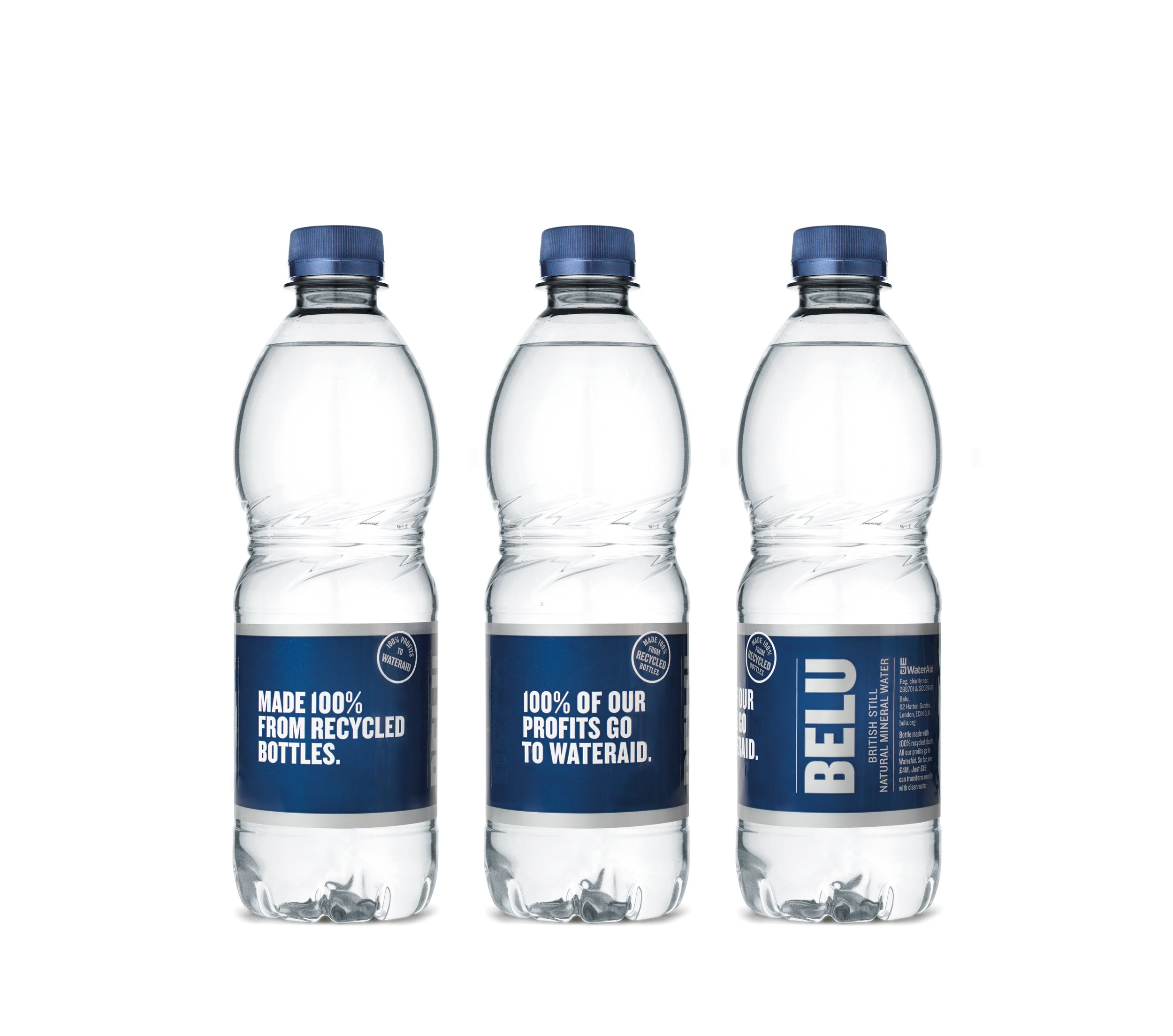 Bottles made 100% from recycled bottles